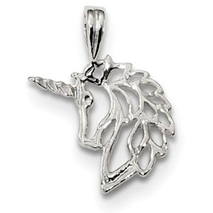 925 Sterling Silver Unicorn Pendant Charm